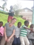 Amy with Some of Her Sponsored Kids