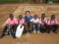 Friends Vision Volunteer (Niamh) Visiting the Sponsored Kids at School