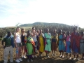 Girls with Maasais