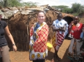 Volunteers Visiting Maasai Home
